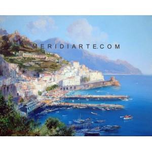 Amalfi Coast oil paintings