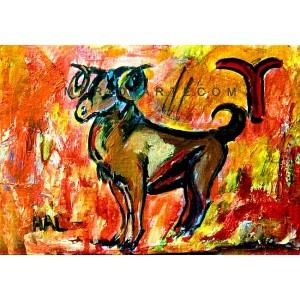 Aries - Expressionism Figurative - Luna Hal