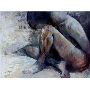 Meditation - Figure oil painting