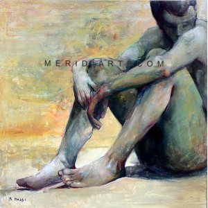 Intimate thoughts - Figure oil painting