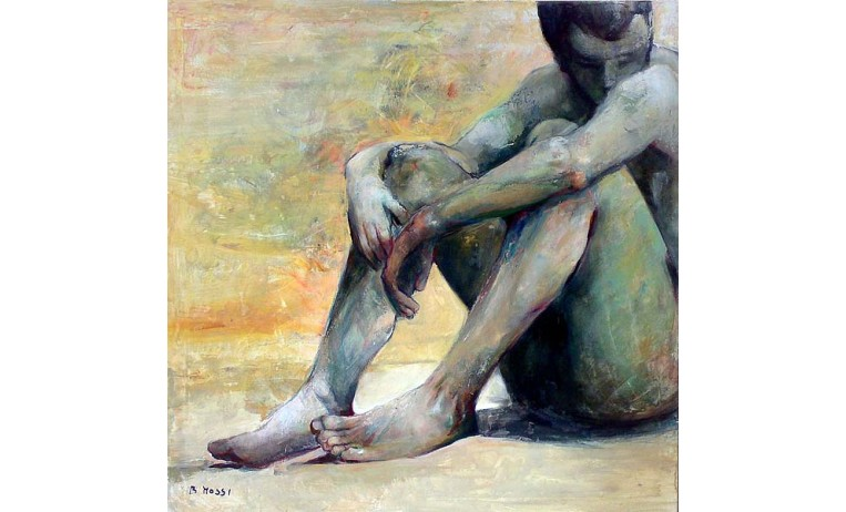 "<h2>Thoughts</h2> <p>Intimate thoughts, figure oil painting by the italian artist Beatrice Mossi. </p>  <a href=""/contemporary-art/Figurative/Intimate-thoughts""></a>"