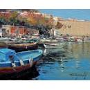 Marine of Naples - Seascape oil paintings - Mergellina