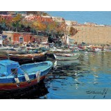 Marine of Naples - Seascape oil paintings - Mergellina