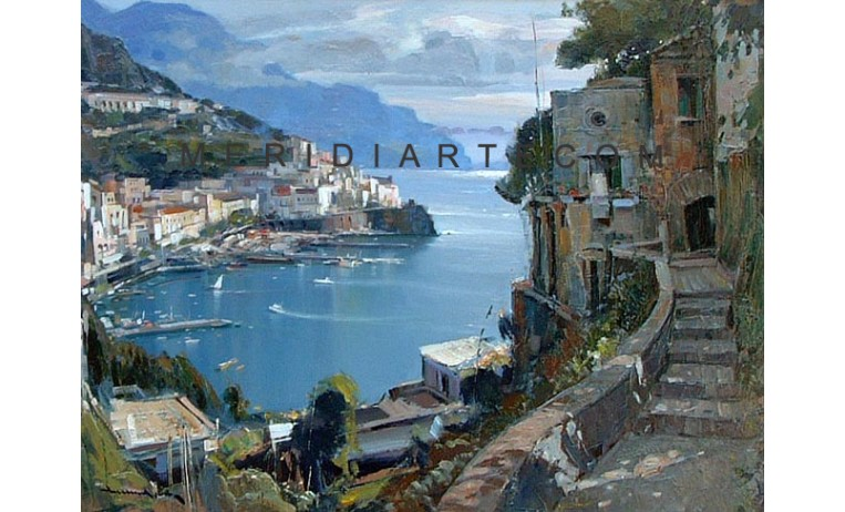 "<h2> Bay of Amalfi </h2> <p> Bay of Amalfi, oil painting on canvas by painter Vincenzo Aprile.</p>  <a href=""/oil-paintings/coast-oil-paintings/Bay-of-Amalfi""></a>"