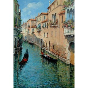 Venice oil painting - Canal in Venice