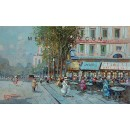 Bistrot - Paris oil painting