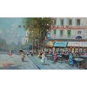 Bistrot - Paris oil painting