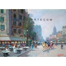 Bistrot in Paris - Paris oil painting