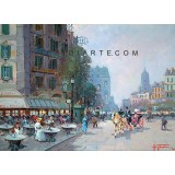 Bistrot in Paris - Paris oil painting