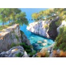 Cliff oil paintings - Amalfi coast