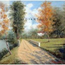 Country Road - Landscape oil paintings