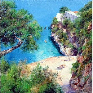 Capri - Coast oil painting - Capri Island