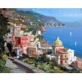 Positano oil painting