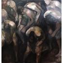 Движение - изобразительных картина маслом вдохновлен Пины Бауш