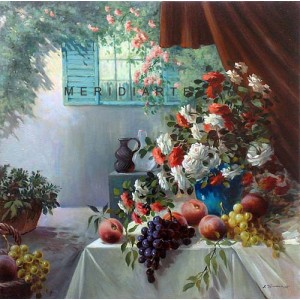 In the garden - Still Life oil painting