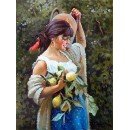 Gathering of lemons - Figure oil paintings