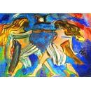 Gemini - Expressionism Figurative - Luna Hal
