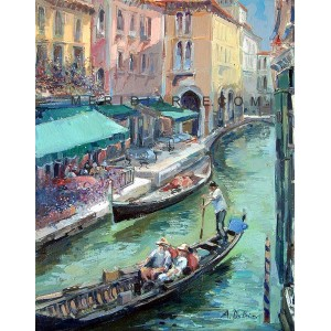Gondolier - Venice oil paintings