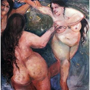 Harmonie - Figurative oil painting - Veronica Canzanella