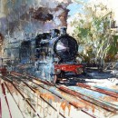 The train does not come back - Oil Painting