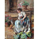 In the garden - Figure oil paintings