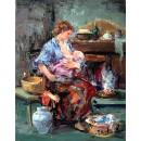 Maternity - Figure oil paintings