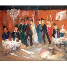 Cafè chantant - Figure oil paintings