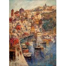 Porto della Corricella - Seascape oil paintings - Marine of Procida