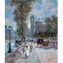 Promenade on the Seine - Paris oil painting