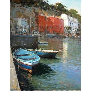 Marine of Naples - Seascape oil paintings