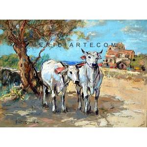 Cattle - Landscape painting
