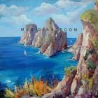 Farglioni oil painting - Capri