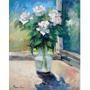 White roses - Still Life oil painting