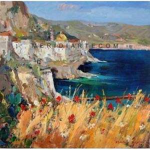 Amalfi Coast oil paintings