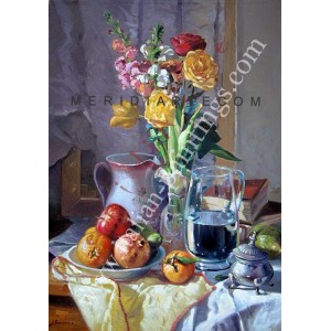 In my Studio - Still Life oil painting