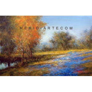 Landscape oil paintings - Field of Lavander