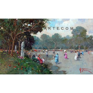 Park - Landscape oil painting