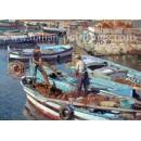 Marina di Pozzuoli - Seascape oil painting
