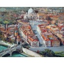 San Pietro Square - San Pietro oil paintings - Rome