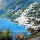 Coast oil paintings - Adolfo Fava - Positano Coast
