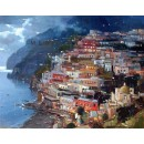 Nighttime of Positano - Vincenzo Aprile - Positano oil painting