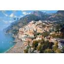 View of Positano oil painting - Vincenzo Aprile Coast