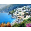 Positano oil paintings - Adolfo Fava