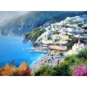 View of Positano oil paintings