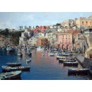 Port of Corricella - Procida - Seascape oil paintings