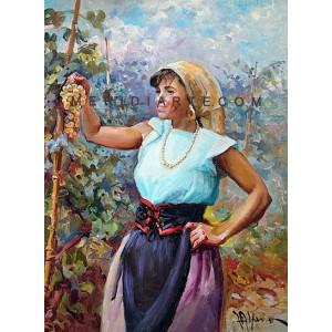Grape harvest - Figure oil paintings