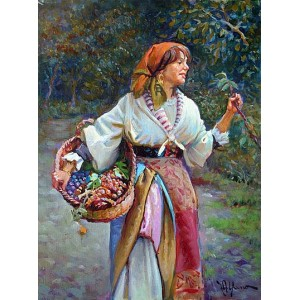 Grape harvest- Figure oil paintings