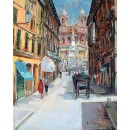 Spagna Square - Rome oil painting