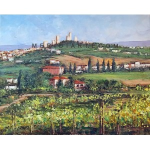 San Gimignano - Tuscany landscape oil paintings