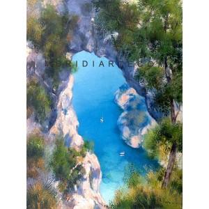 Cliff oil painting - Amalfi Coast Art Gallery